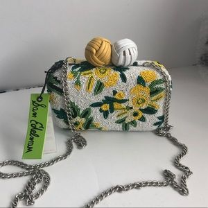 Beautiful Sam Edelman Beaded Floral hardcase bag